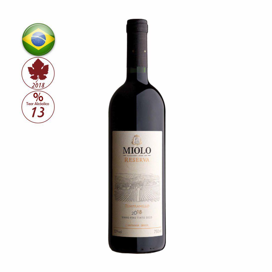 VINHO MIOLO RESERVA 750ML TEMPRANILLO