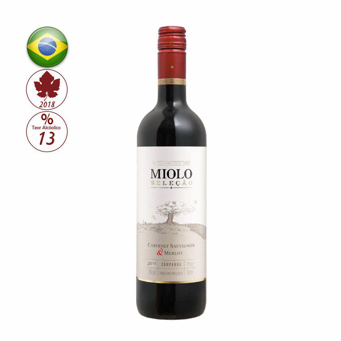 VINHO MIOLO SELECAO 750ML CABERNET/MERLOT