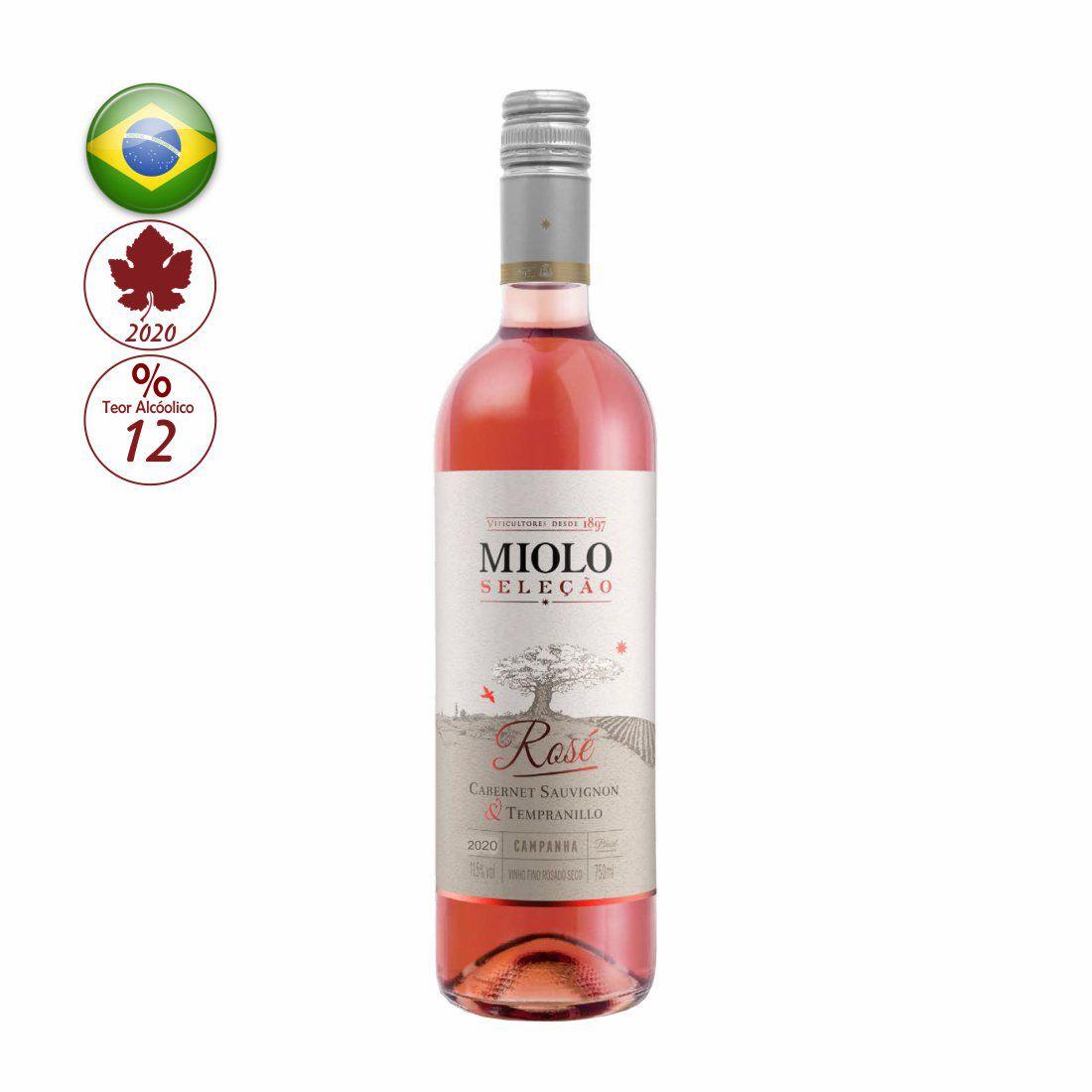 VINHO MIOLO SELECAO 750ML ROSE SECO