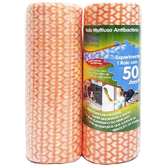 2 Pacotes c/ 100 Panos Multiuso para Limpeza Azul 28x40cm Uniminas