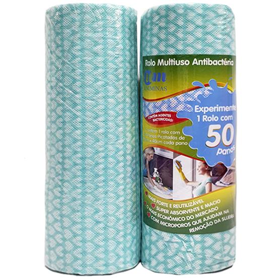 2 Pacotes c/ 100 Panos Multiuso para Limpeza Verde 28x40cm Uniminas