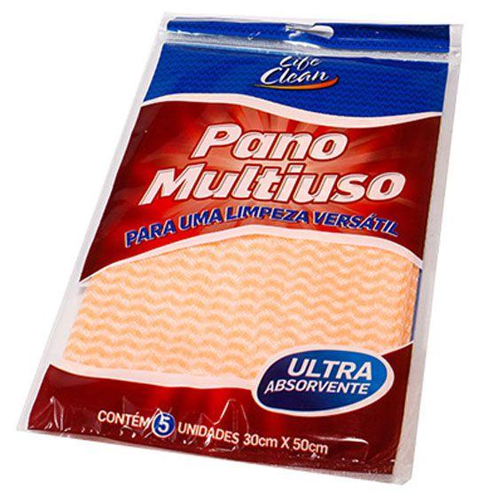 3 Pacotes c/ 5 Panos Multiuso para Limpeza Colorido 30x50cm Life Clean Carmex