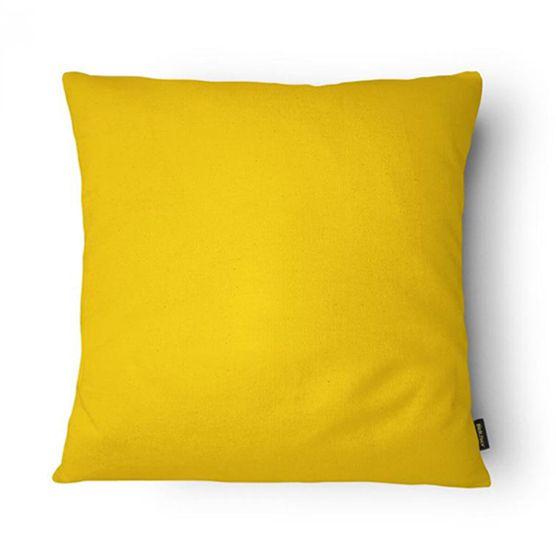 Almofada Cheia 43x43cm Amarela Lisa Belchior