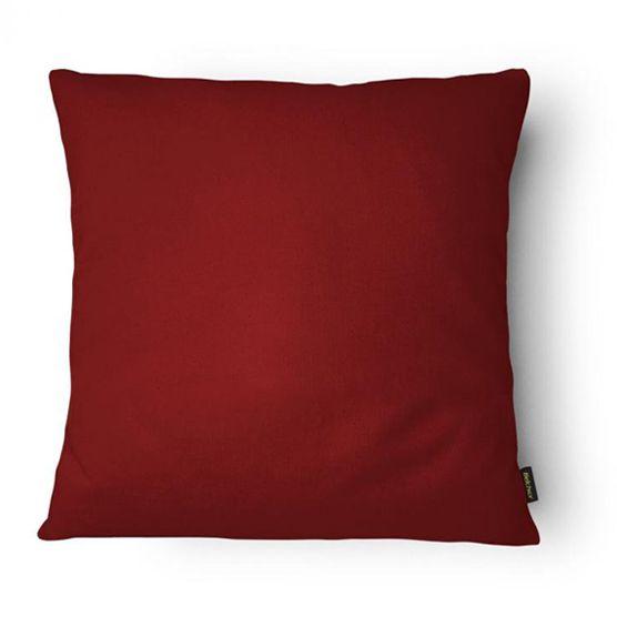 Almofada Cheia 43x43cm Vermelha Lisa Belchior