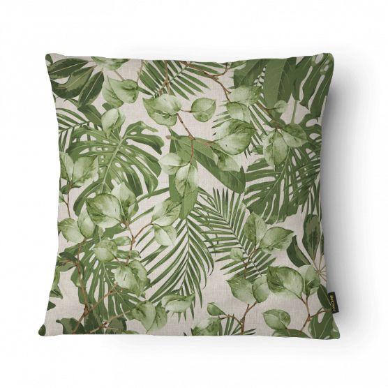 Almofada Cheia Elegance Folhas Verde 026 43x43cm Belchior