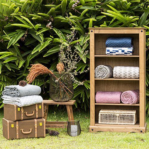 Cobertor Casal Microfibra Flannel Loft Estampado Lista 1,80x2,20m Camesa