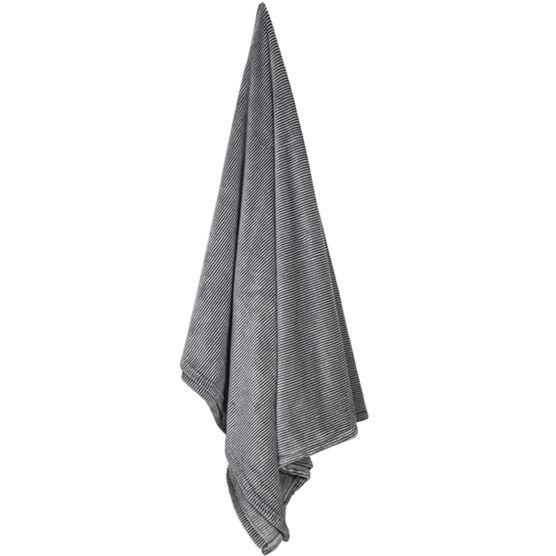 Cobertor Casal Microfibra Flannel Loft Estampado Listrado 1,80x2,20m Camesa