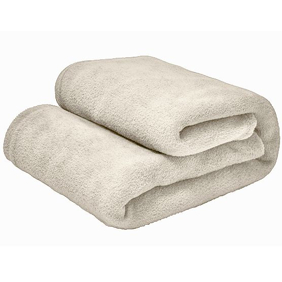 Cobertor Casal Microfibra Liso Bege Claro 1,80x2,20m Camesa