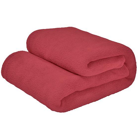 Cobertor Casal Microfibra Liso Coral 1,80x2,20m Camesa