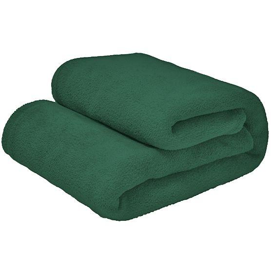 Cobertor Casal Microfibra Liso Verde Escuro 1,80x2,20m Camesa