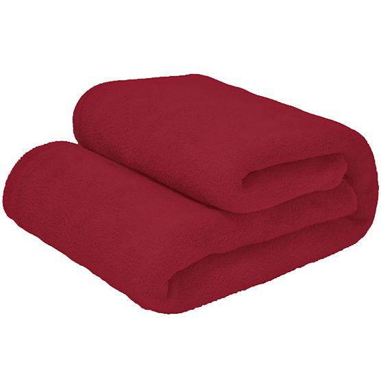 Cobertor Casal Microfibra Liso Vermelho 1,80x2,20m Camesa