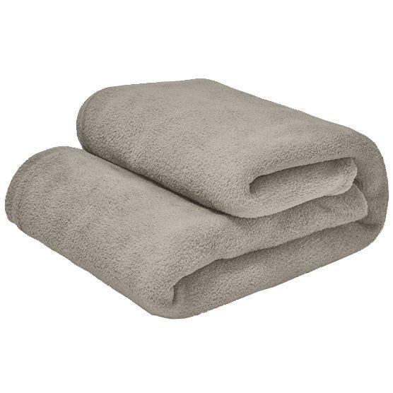 Cobertor Queen Microfibra Bege 2,20x2,40m Camesa