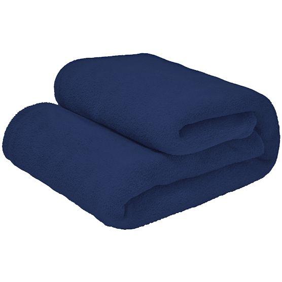 Cobertor Queen Microfibra Marinho 2,20x2,40m Camesa
