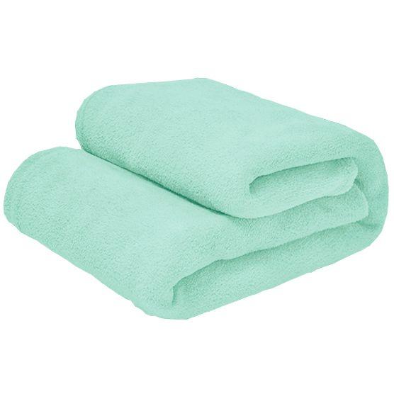Cobertor Queen Microfibra Verde Claro 2,20x2,40m Camesa