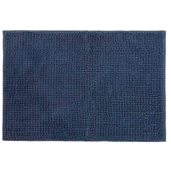 Cortina para Box + Tapete Antiderrapante para Banheiro Remix Azul 2 peças