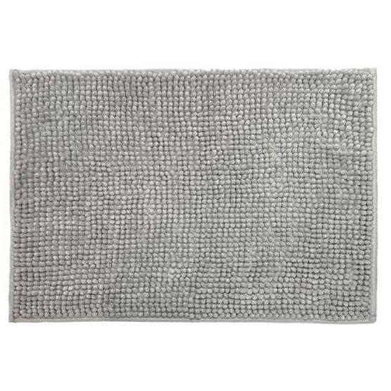 Cortina para Box + Tapete Antiderrapante para Banheiro Remix Bege 2 peças