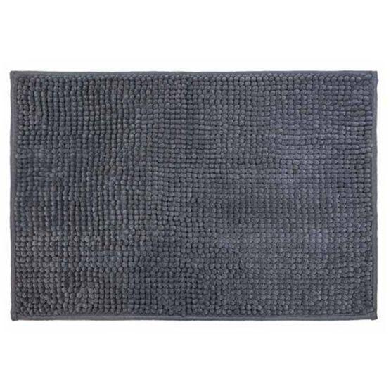 Cortina para Box + Tapete Antiderrapante para Banheiro Remix Cinza 2 peças