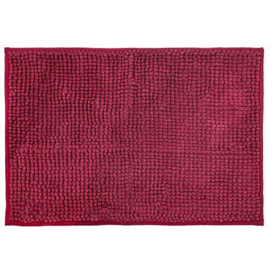 Cortina para Box + Tapete Antiderrapante para Banheiro Remix Vermelho 2 peças