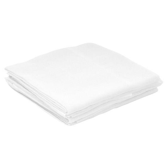 Pacote Fralda 67x70cm Luxo Branca c/ Bainha Tecido Duplo Extra Absorvente Incomfral 5 peças