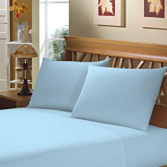 Fronha Avulsa para Travesseiro 150 Fios 50x70cm Azul Camesa