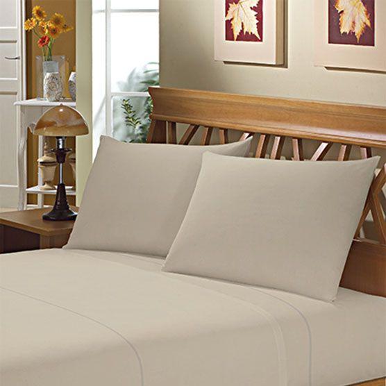 Fronha Avulsa para Travesseiro 150 Fios 50x70cm Bege Camesa