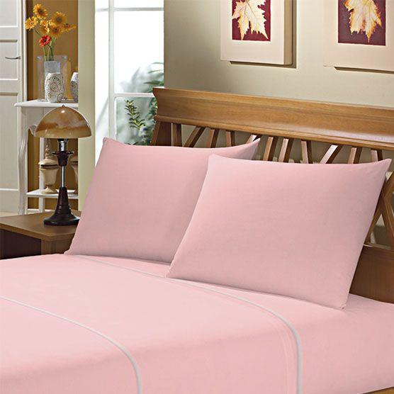 Fronha Avulsa para Travesseiro 150 Fios 50x70cm Rosa Camesa