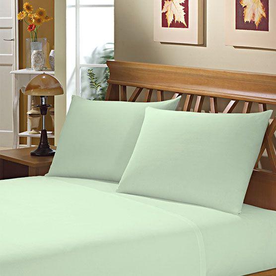Fronha Avulsa para Travesseiro 150 Fios 50x70cm Verde Camesa
