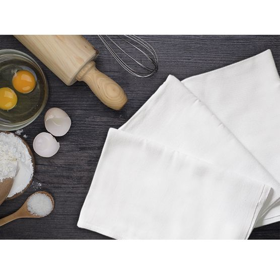 Kit c/ 10 Panos de Prato Engoma Têxtil Extra Grande Branco 45x72cm