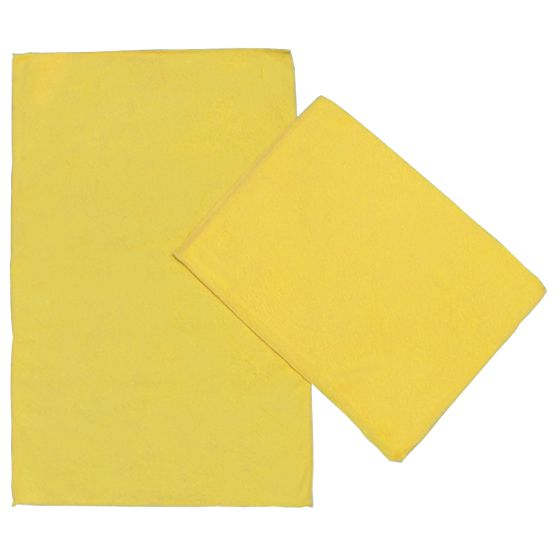 Kit c/ 2 Panos de Microfibra para Limpeza Ultra Absorvente Amarelo 35x55cm Camesa