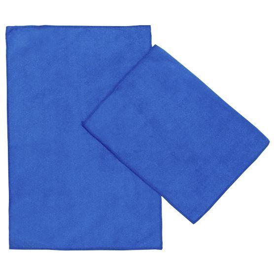 Kit c/ 2 Panos de Microfibra para Limpeza Ultra Absorvente Azul 35x55cm Camesa
