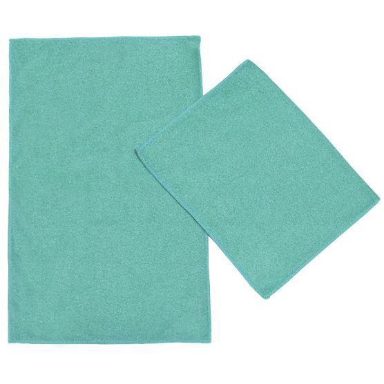Kit c/ 2 Panos de Microfibra para Limpeza Ultra Absorvente Azul Piscina 35x55cm Camesa