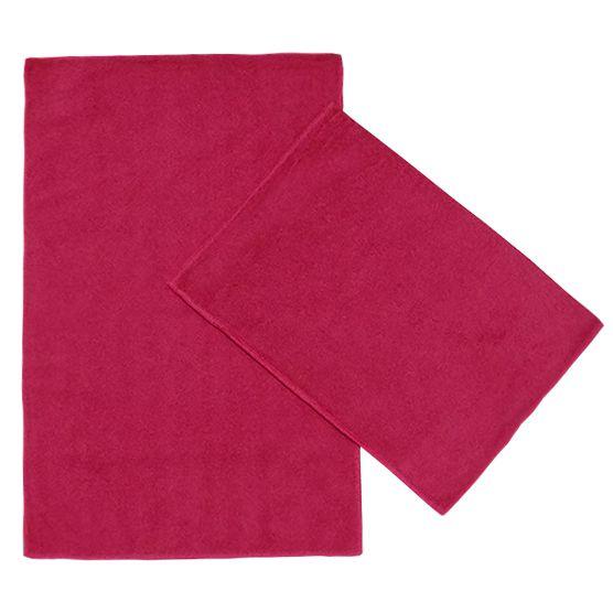 Kit c/ 2 Panos de Microfibra para Limpeza Ultra Absorvente Vermelho 35x55cm Camesa