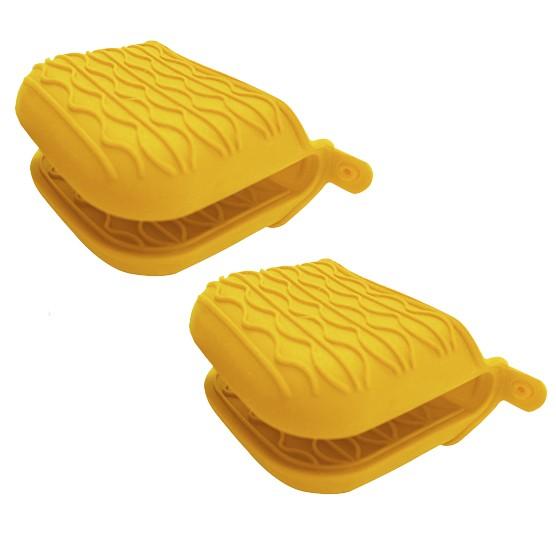 Kit c/ 2 Pegadores Luva Silicone Home Cook Amarelo Niazitex