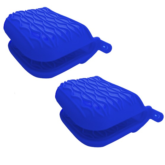 Kit c/ 2 Pegadores Luva Silicone Home Cook Azul Niazitex