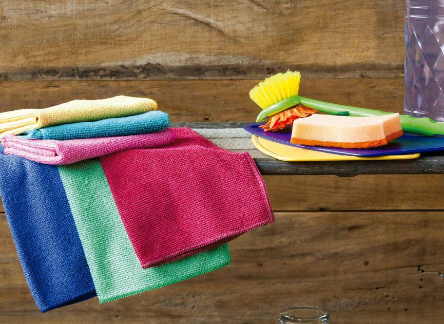 Kit Panos de Microfibra Colorido para Limpeza Ultra Absorvente 3 peças 30x30cm Camesa