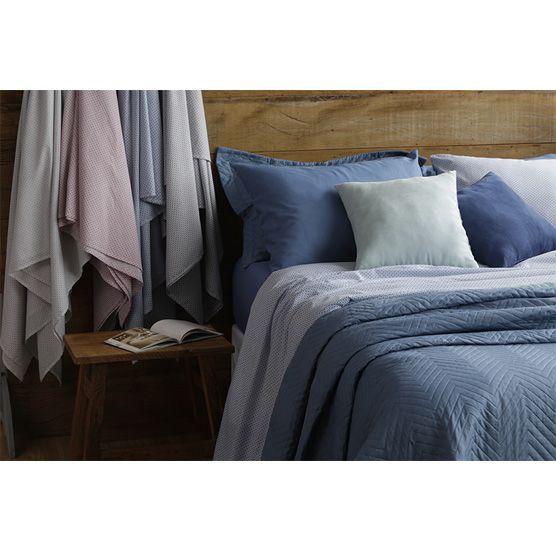 Lençol Casal c/ Elástico 100% Algodão Camesa Remix Azul 1,38cm x 1,88m x 30cm
