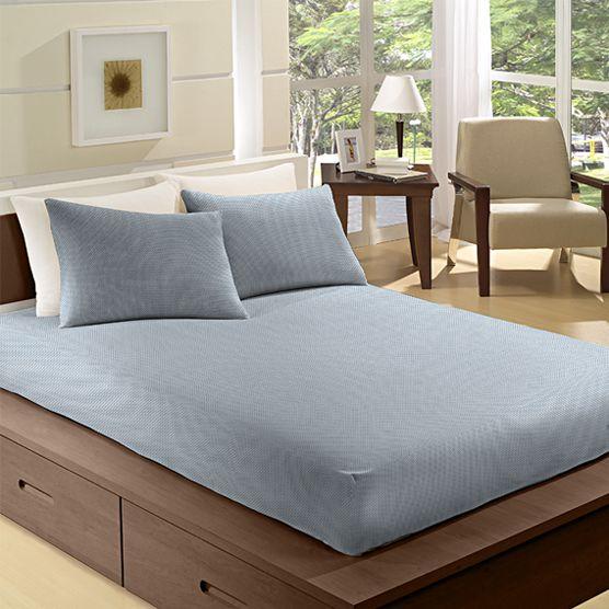 Lençol Solteiro c/ Elástico 100% Algodão Camesa Remix Azul 88cm x 1,88m x 30cm
