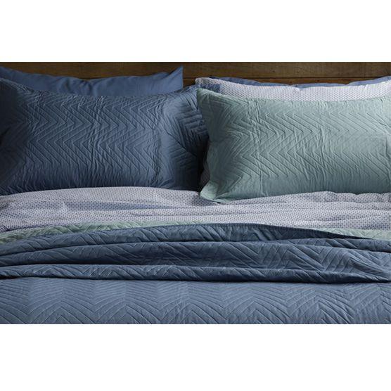 Lençol Solteiro c/ Elástico 100% Algodão Camesa Remix Estampado Azul 88cm x 1,88m x 30cm