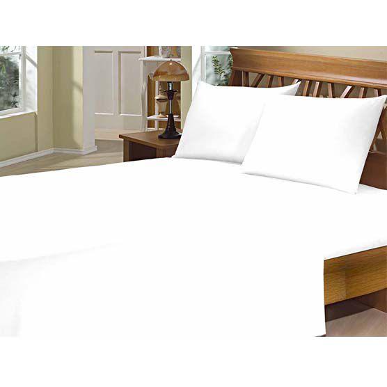 Lençol Solteiro c/ Elástico Camesa Microfibra 150 Fios Branco  80cm x 1,88m x 20cm