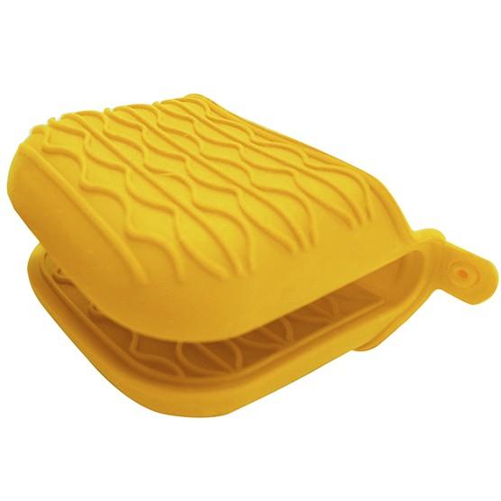 Pegador Luva Silicone Home Cook Amarelo Niazitex