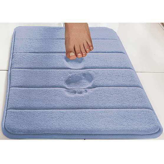Tapete Para Banheiro Camesa Super Soft Macio Antiderrapante Azul 40x60cm