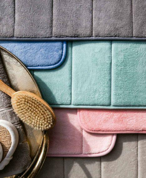 Tapete Para Banheiro Camesa Super Soft Macio Antiderrapante Cinza  40x60cm