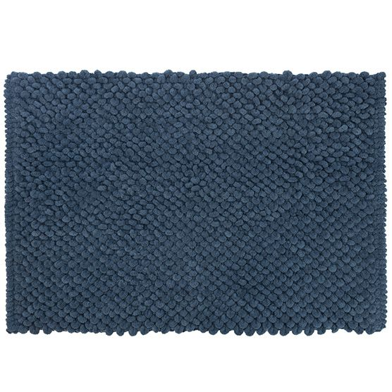 Tapete para Banheiro Micropop Azul Antiderrapante e Ultra absorvente 40x60cm Camesa