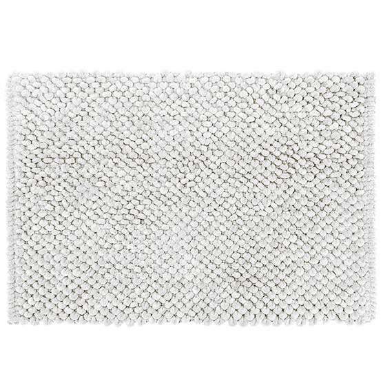 Tapete para Banheiro Micropop Branco Antiderrapante e Ultra absorvente 40x60cm Camesa