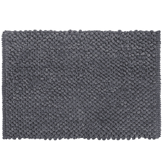 Tapete para Banheiro Micropop Cinza Antiderrapante e Ultra absorvente 40x60cm Camesa