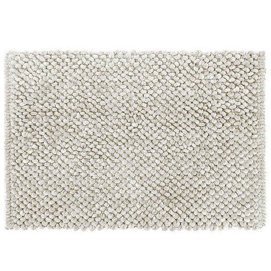 Tapete para Banheiro Micropop Creme Antiderrapante e Ultra absorvente 40x60cm Camesa