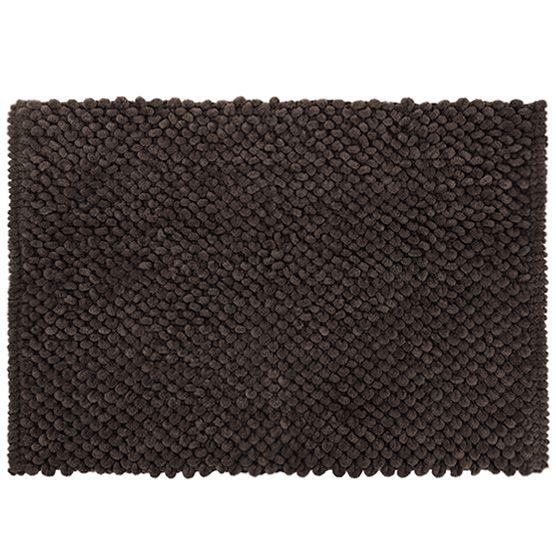 Tapete para Banheiro Micropop Marrom Antiderrapante e Ultra absorvente 40x60cm Camesa