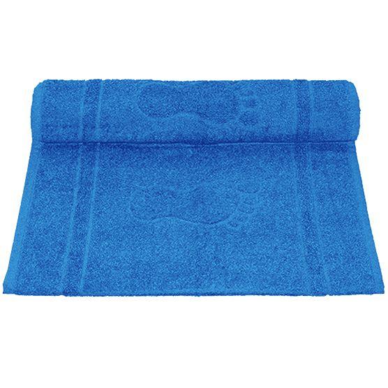 Tapete Para Banheiro Pegada Atoalhado 100% Algodão Azul 45x70cm Camesa