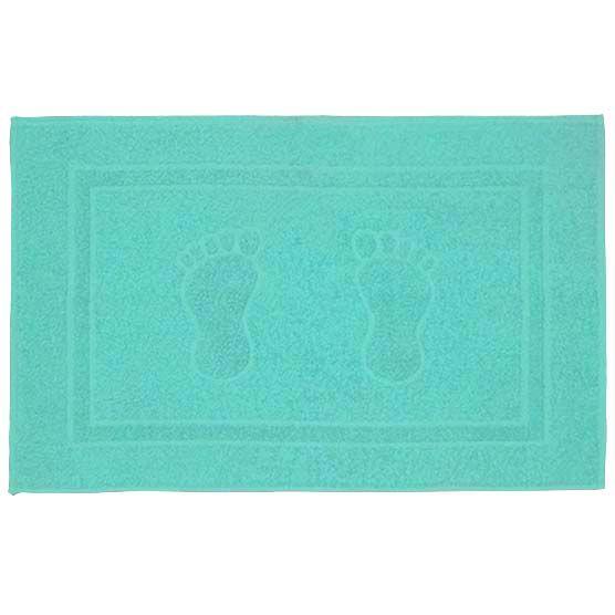 Tapete Para Banheiro Pegada Atoalhado 100% Algodão Azul Piscina 45x70cm Camesa