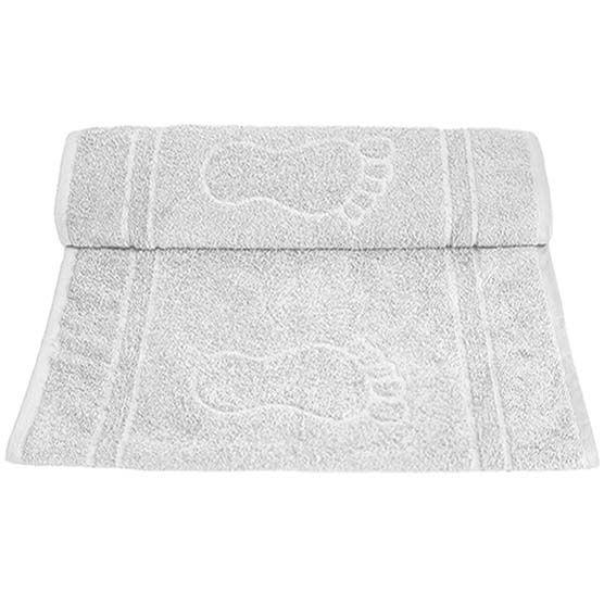Tapete Para Banheiro Pegada Atoalhado 100% Algodão Branco 45x70cm Camesa